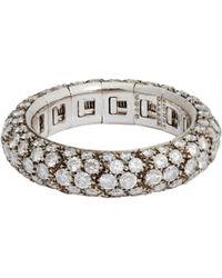 Sidney Garber - Metallic Diamond & White Gold Flexible Ring - Lyst