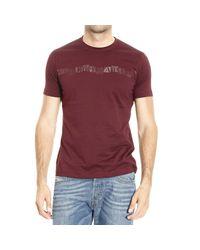 Emporio Armani | Purple T-shirt for Men | Lyst