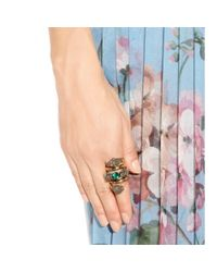 Gucci - Gray Embellished Ring - Lyst