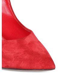 Casadei Red 110mm Suede Blade Pumps
