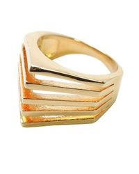 Noir Jewelry   Metallic Brenda Pyramid Spike Ring   Lyst