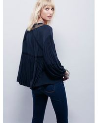 Free People - Black Womens Dont Let Go Peasant Blouse - Lyst