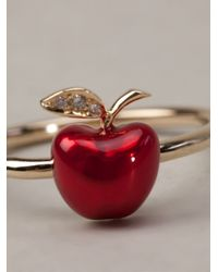 Alison Lou - Red Apple Ring - Lyst