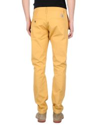 Carhartt | Yellow Casual Trouser for Men | Lyst