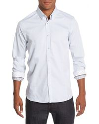 Ted Baker | White 'bigidea' Trim Fit Micro Dobby Sport Shirt for Men | Lyst