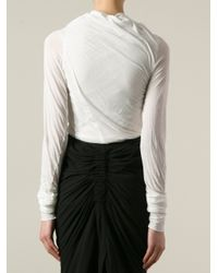 Rick Owens - - Stretch-jersey Top - Off-white - Lyst