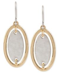 Robert Lee Morris | Metallic Two-tone Oval Drop Earrings | Lyst