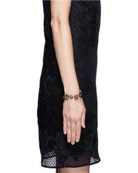 Erickson Beamon | Metallic 'golden Rule' Crystal Foliage Bracelet | Lyst