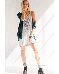 Truly Madly Deeply - Gray Flowers Darkness Tank Dress - Lyst