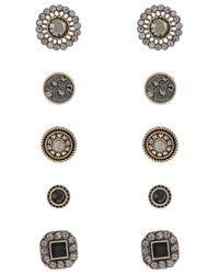 Accessorize Black 5x Jet Stud Earrings Set