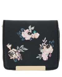 Accessorize - Multicolor Dark Ditsy Embroidered Wallet - Lyst