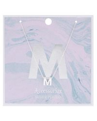 Accessorize - Metallic Initial M Pendant Necklace - Lyst
