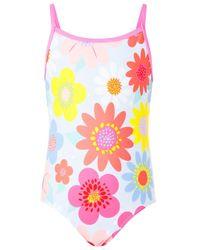 Accessorize Pink Retro Floral Swimsuit Multi