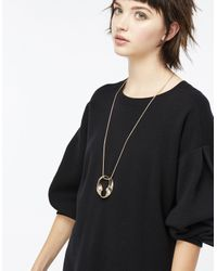 Accessorize | Metallic Textured Twist Long Pendant Necklace | Lyst