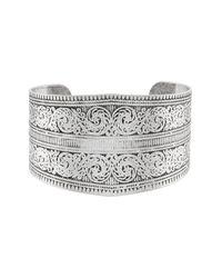 Accessorize - Metallic Silver Cuff Bracelet - Lyst