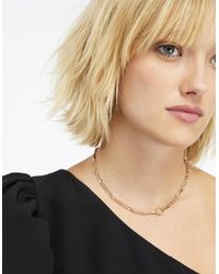 Accessorize - Metallic Detailed Chain Choker Necklace - Lyst
