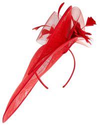 Accessorize - Red Asymmetric Statement Hat Fascinator - Lyst