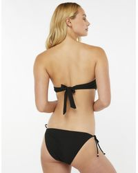 Accessorize - Black Lily Lace Flower Bandeau Bikini Top - Lyst
