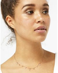 Accessorize - Metallic Rose Gold Charmy Trinket Necklace - Lyst