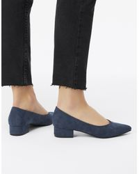Accessorize Blue Vicky V Point Low Heel Shoes