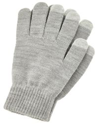 Accessorize Gray Touch Screen Metallic Gloves