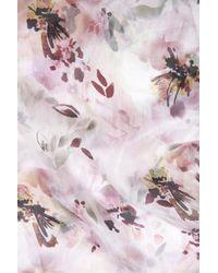 Accessorize Pink Watercolour Lily Classic Silk Scarf