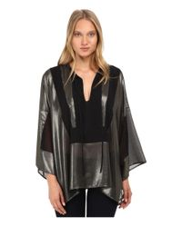 Just Cavalli | Metallic Boho Top W/ Tie | Lyst