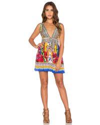 Camilla - Multicolor V-Neck Mini Dress - Lyst
