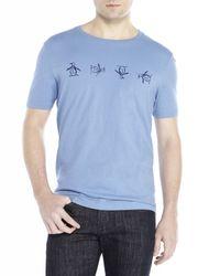Original Penguin - Blue Tumbling Short Sleeve Tee for Men - Lyst