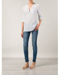 PAIGE - White Vertical Stripes Tunic - Lyst