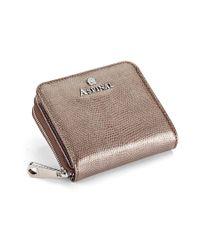 Aspinal Metallic Mini Continental Zipped Coin Purse