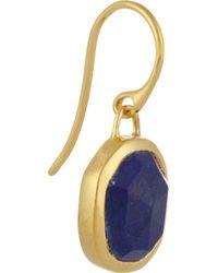 Monica Vinader Blue Siren Goldplated Lapis Earrings