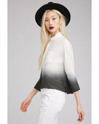 Forever 21 - White Ombré Dolman Button-down Blouse - Lyst
