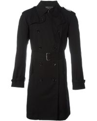 Comme des Garçons Black Classic Midi Trench Coat for men