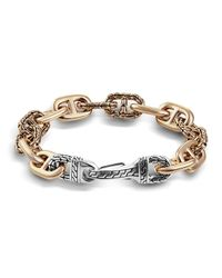 John Hardy | Metallic Men's Bronze/silver Carved-link Bracelet for Men | Lyst