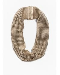 & Other Stories | Metallic Fluid Mesh Collar Necklace | Lyst