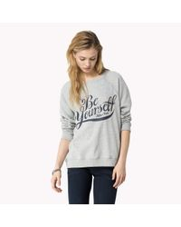 Tommy Hilfiger | Gray Be Yourself Cotton Sweatshirt | Lyst