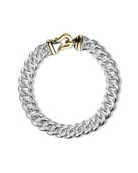 David Yurman - Metallic Cable Buckle Chain Necklace With 14k Gold - Lyst