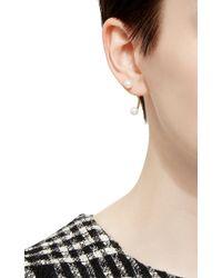Delfina Delettrez | Metallic Gold Double Pearl Earring | Lyst
