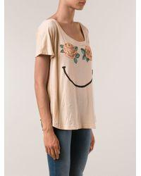 Wildfox Pink 'Happy Rose' T-Shirt