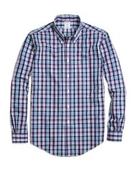 Brooks Brothers | Blue Regent Slim Fit Woven Shirt for Men | Lyst