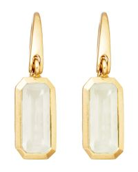 Astley Clarke Metallic Gold-plated Moonstone Prismic Drop Earrings