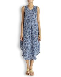 Cool Change Blue Drift Cercle Navy Printed Dress