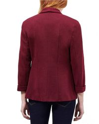 Miss Selfridge Red Ponte Knit Blazer