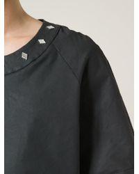 Asger Juel Larsen Black Dischange Cotton-Blend T-Shirt for men