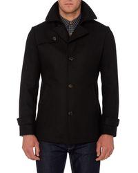 Remus Uomo - Black Knoxx Formal Pea Coat for Men - Lyst