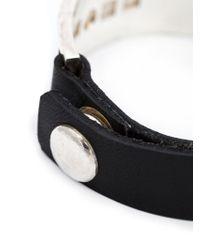 Werkstatt:münchen | Black Silver Plaque Bracelet | Lyst