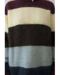 Acne - Multicolor Albah Mohair burgundy Mélange Stripe Mix - Lyst