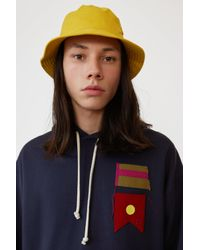 Acne Buk Face Co Tw Amber Yellow Bucket Hat