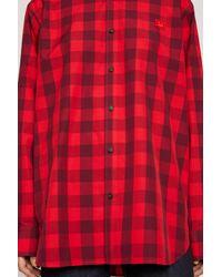 Acne Vichy-check Shirt poppy Red for men